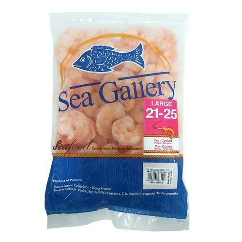 Sea Gallery Frozen Precooked Shrimp, Bag, Size 21-25 / 908 g. / 2 Lb.