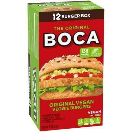 Boca Veggie Burger 12 Units / 71 g / 2.5 oz
