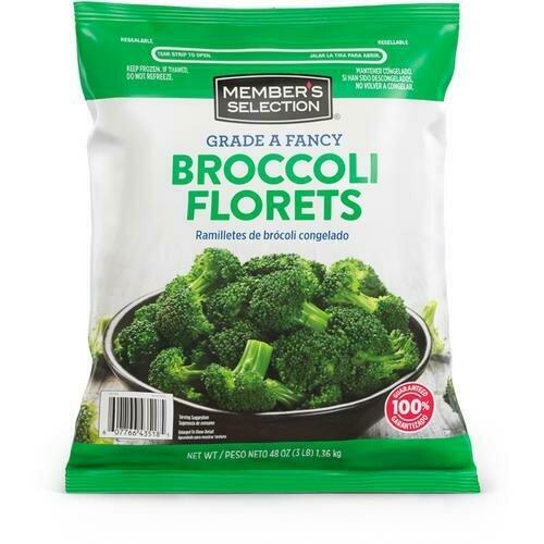 Member's Selection Grade A Fancy Broccoli Florets 1.36 kg / 3 lb