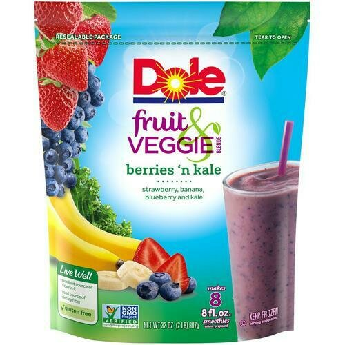 Dole Fruit and Veggie Smoothie Blend 907 g / 2 lb