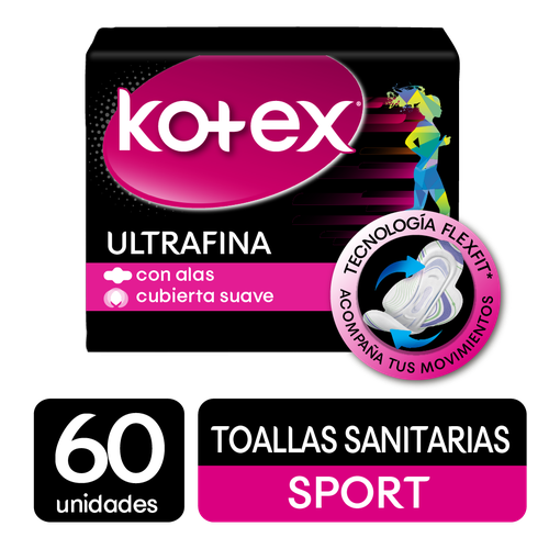 Kotex Sport Ultra Thin Pads 60 units