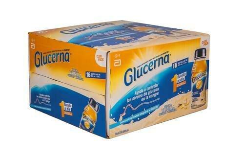 Glucerna Vanilla Diabetic Nutritional Supplement 16 units /237mL