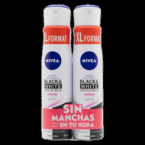 Nivea Black&White Female Deodorant 2 Units/250 ml