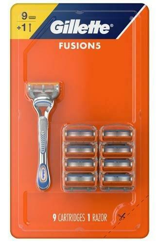 Gillette Fusion 5 Handle + 9 Cartridges