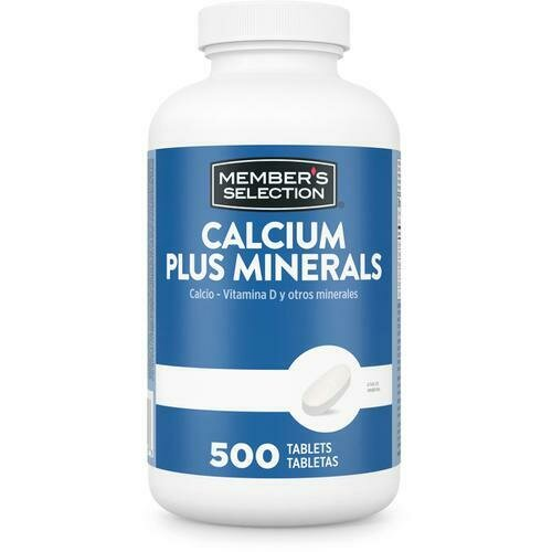 Member's Selection Calcium 600 mg + Minerals 500 Tablets