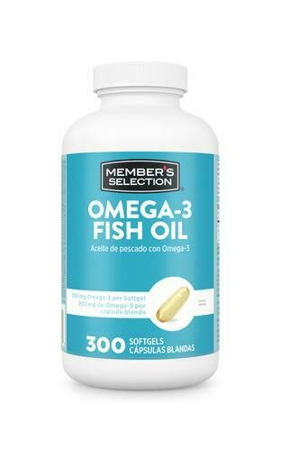 Member's Selection 300 mg Omega-3 & 1000 mg Fish Oil Softgels 300ct