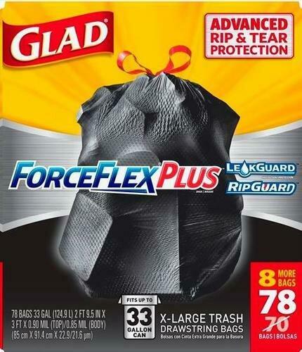 Glad 33 Gal Trash Bags 78ct
