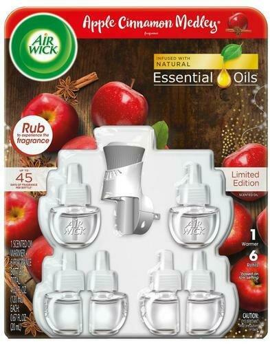 Air Wick Apple Cinnamon Medley 1 Warmer + 6 Refills