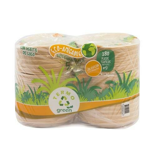 """Termogreen Eco Plates with 3 compartments 9""""/ 180 units"""