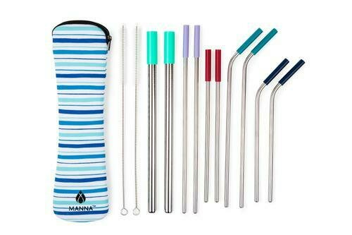 Stainless Steel Straws 13 Piece Pack