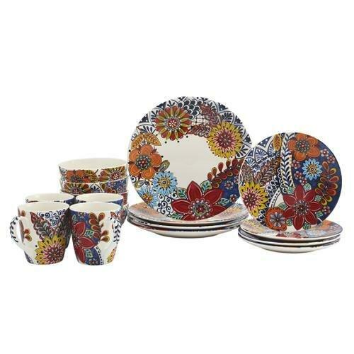 Tabletops Gallery Donatella 16 Piece Dinnerware Set