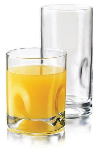 Glass Drinkware Set 16pc