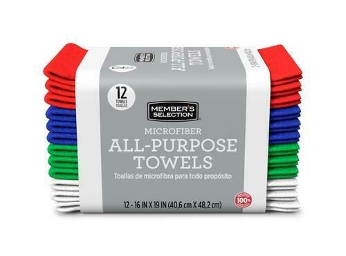 Member's Selection Microfiber All-Purpose Towels 12 Pack