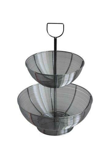 Two Tier Wire Table Top Basket