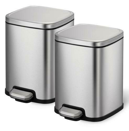 Sensible Eco Living 2 Pack Stainless Steel 6L Trash Can