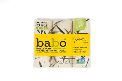 Bamboo Paper Towel 6 pk/120 Sheets