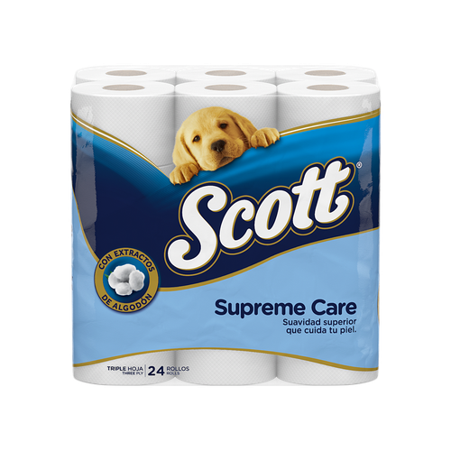 Scott Supreme Care 24 rolls / 275 sheets