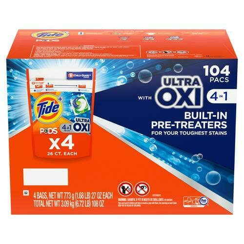 Tide Pods Oxi 104 Count
