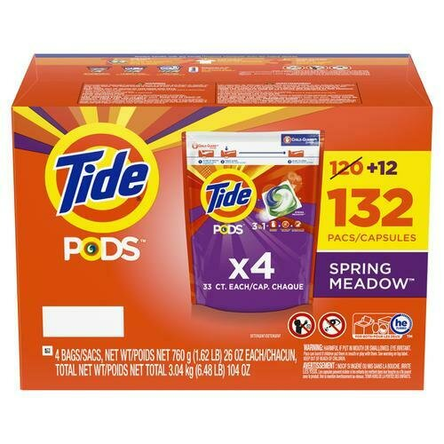 Tide PODS Spring Meadows Laundry Detergent 104 oz/132 ct