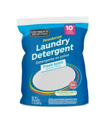 Member's Selection Powdered Laundry Detergent 500 g / 1.1 lb 18 Units
