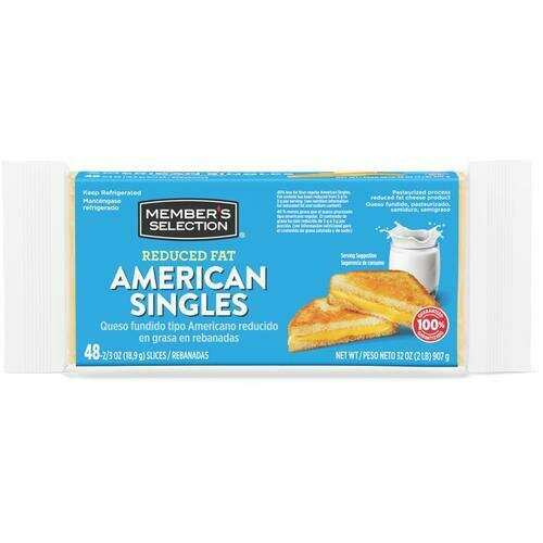 Member's Selection Reduced Fat American Singles 907 g / 2 lb 48 Slices