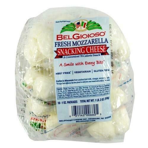 Belgioioso Fresh Mozzarella Snack Cheese 18pk/28 g / 1 oz