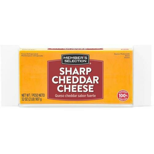 Member's Selection Sharp Cheddar Cheese 907 g / 2 lb