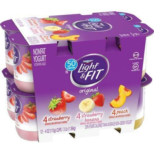 Dannon Light & Fit Nonfat Yogurt 12 pk /113 g / 4 oz