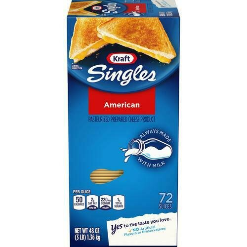 Kraft American Singles 1.36 k / 3 lb