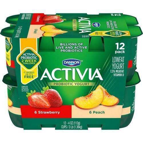Activia Low Fat Yogurt 12 pk/ 113 g / 4 oz
