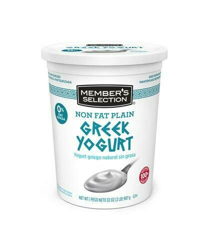 Member's Selection Non Fat Plain Greek Yogurt 907 g / 2 lb