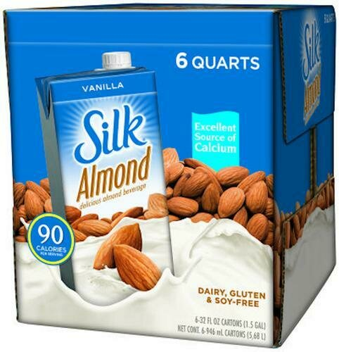Silk Almond Vanilla 6 pack - 32 oz/ 946 mL