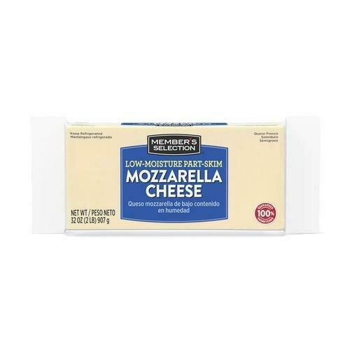 Member's Selection Low-Moisture Part-Skim Mozzarella Cheese 907 g / 2 lb
