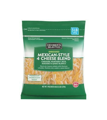 Member's Selection Shredded Mexican-Style 4 Cheese Blend 1.36 kg / 3 lb