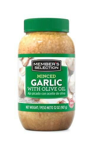 Member's Selection Minced Garlic with Olive Oil 907 g / 32 oz