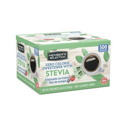 Member's Selection Zero Calorie Sweetener with Stevia 500 pk