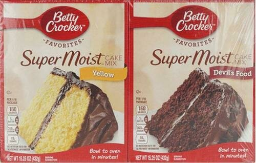 Betty Crocker Cake Mix 4 pk- 15.25 oz/432 g
