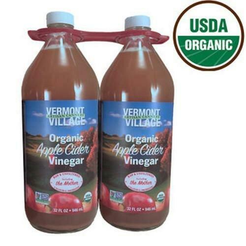 Vermont Village Organic Apple Cider Vinegar 2 Pack