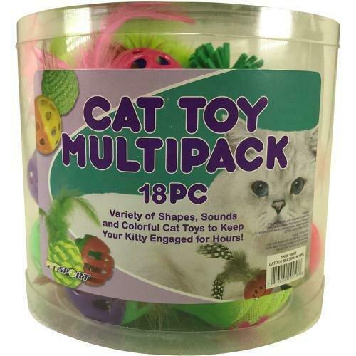 Cat Toy Multi Pack 18 Pieces