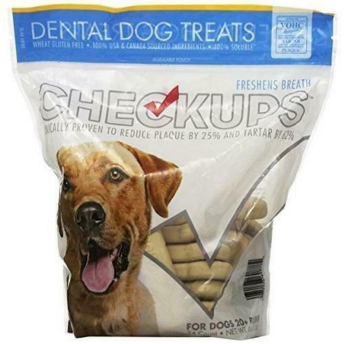 CheckUps Dental Dog Treats 24 ct - 48 oz/ 1.36 kg