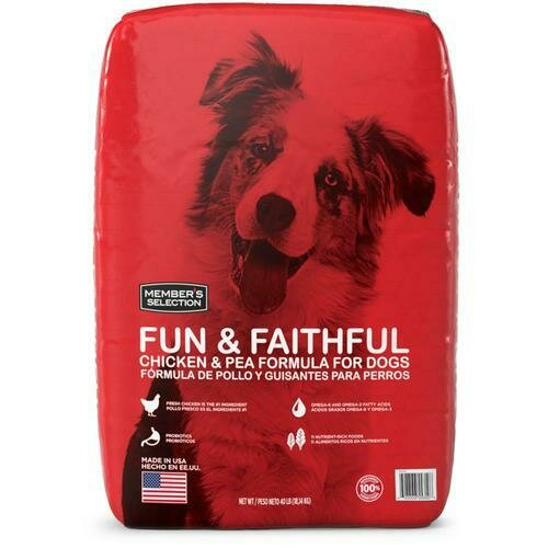 Member's Selection Fun & Faithful Chicken & Pea Formula for Dogs 18.14 kg / 40 lb