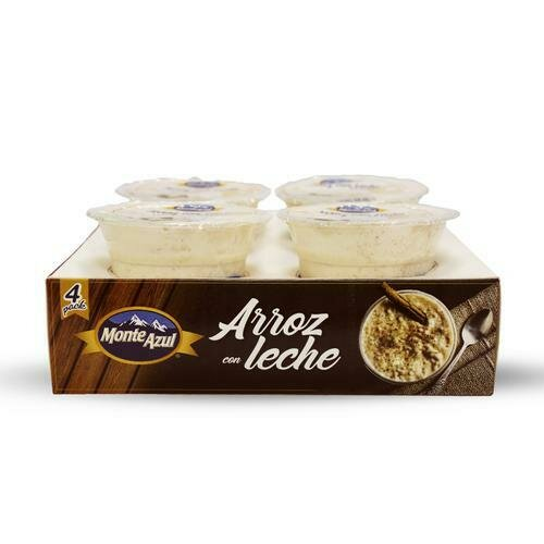 Monte Azul Rice Pudding, 4 Pack / 227 g / 8 oz