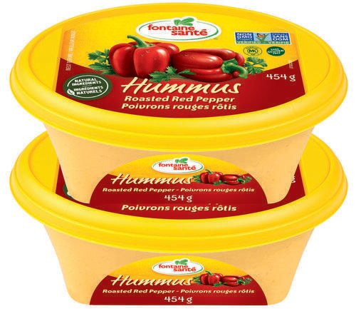 Fontaine Sante Hummus Red Pepper 2pk/ 454 g/16 oz