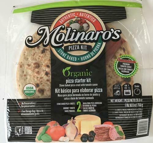 Molinaro's Organic Pizza Kit 2 pk