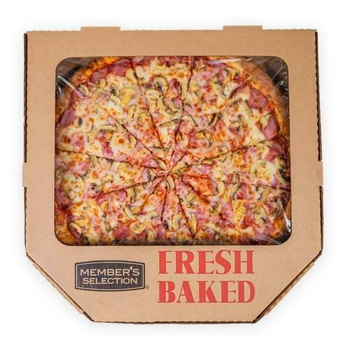 "Member's Selection. Ham & Mushrooms Pizza 18"" 12 Slices"