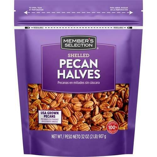 Member's Selection Shelled Pecan Halves 907 g / 2 lb