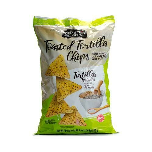 Member's Selection Toasted Tortilla Chips with Chia, Quinoa and Sea Salt 800 g / 1.76 lb