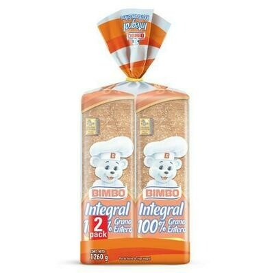 Bimbo Wholemeal Bread 2 units/690 g
