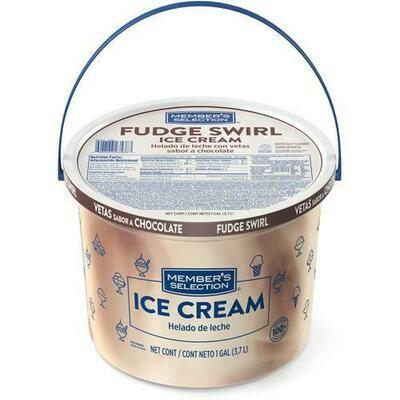 Member's Selection Fudge Swirl Ice Cream 3.7 L / 1 Gallon