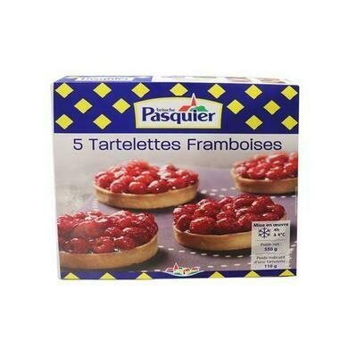 Brioche Pasquier Raspberry Tartlet, 5 units / 110 g / 3.8 oz